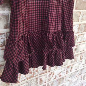 PINK Victoria's Secret Dresses - PINK TEXAS A&M College Plaid Flannel Ruffle Dress